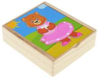 Купить Мир деревянных игрушек Пазл Медвежонок Катя