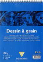Купить Блокнот для черчения и рисования Clairefontaine Dessin a Grain , 30 листов, формат А4, Бумага и картон