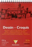 Купить Блокнот для черчения и рисования Clairefontaine Dessin Croquis , 50 листов, формат А4, Бумага и картон