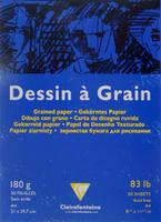Купить Блокнот для черчения и рисования Clairefontaine Dessin a Grain , 30 листов, формат А4. 96624, Бумага и картон