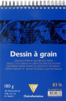 Купить Блокнот для черчения и рисования Clairefontaine Dessin a Grain , 30 листов, формат А5, Бумага и картон