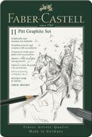 Купить Faber-Castell СПЕЦИАЛЬНЫЙ НАБОР PITT MONOCHROME металлическая коробка 11 предметов, Карандаши