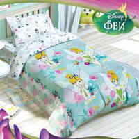 Купить Disney Комплект детского постельного белья Феи Динь-Динь 3 предмета, Постельное белье