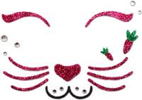 Купить Partymania Украшение-стикер для лица Карнавал Кролик, Rongjun Print Co., LTD. , Украшение волос, лица и тела