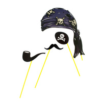Купить Набор для фотосессии Страна Карнавалия Пират , 4 предмета. 1019771, Карнавальные костюмы и аксессуары