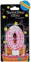 Купить Sima-land Свеча цифра 0 в торт С днем рождения 4, 2 х 7, 2 см 1049620, Свечи для торта