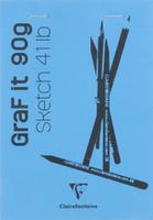 Купить Clairefontaine Блокнот для рисования Graft It 80 листов цвет голубой, Бумага и картон