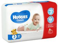 Купить Huggies Подгузники Classic 4-9 кг (размер 3) 31 шт