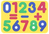 Купить Бомик Пазл для малышей Цифры цвет основы желтый