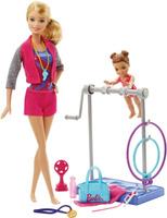 Купить Barbie Игровой набор с куклой Гимнастика, Куклы и аксессуары
