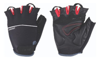 Купить Перчатки велосипедные BBB Omnium , цвет: черный, красный. Размер S, Велоперчатки