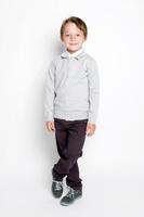 Купить Джемпер для мальчика S'cool, цвет: светло-серый меланж. 363013. Размер 128, 8 лет, Одежда для мальчиков