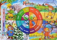 Купить Фабрика Мастер игрушек Рамка-вкладыш Календарь природы, Тимбергрупп