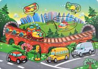 Купить Фабрика Мастер игрушек Рамка-вкладыш Транспорт, Тимбергрупп