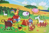 Купить Фабрика Мастер игрушек Рамка-вкладыш Веселая ферма, Тимбергрупп