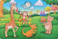 Купить Фабрика Мастер игрушек Рамка-вкладыш День рождения в лесу, Тимбергрупп