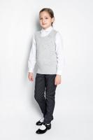 Купить Жилет для девочки S'cool, цвет: серый меланж. 364016. Размер 134, 9 лет, Одежда для девочек