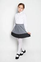 Купить Юбка для девочки S'cool, цвет: серый. 364059. Размер 122, 7 лет, Одежда для девочек