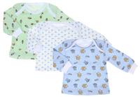 Купить Футболка с длинным рукавом для мальчика Фреш Стайл, цвет: зеленый, белый, голубой, 3 шт. 33-236м. Размер 74, Одежда для новорожденных