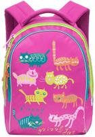 Купить Grizzly Рюкзак детский Коты цвет фуксия, Ранцы и рюкзаки