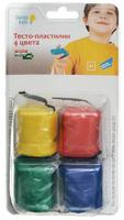 Купить Genio Kids Тесто-пластилин для лепки 4 цвета TA1055B, Dream Makers, Пластилин