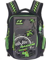 Купить Grizzly Рюкзак детский Racing цвет черный салатовый серый, Ранцы и рюкзаки