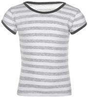 Купить Футболка для девочки Lowry, цвет: серый меланж, белый. GF-130. Размер XL (134/140), Одежда для девочек