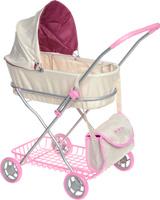 Купить Bon Bon Berry Коляска-люлька для кукол цвет кремовый розовый, Куклы и аксессуары