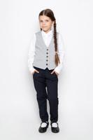 Купить Жилет для девочки Sela, цвет: серый. Vk-616/007-6311. Размер 134, 9 лет, Одежда для девочек
