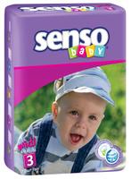 Купить Senso Baby Подгузники детские Midi 4-9 кг 70 шт, Подгузники и пеленки