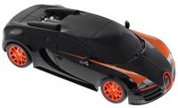 Купить Rastar Радиоуправляемая модель Bugatti Veyron 16.4 Grand Sport Vitesse цвет черный оранжевый масштаб 1:18, Машинки