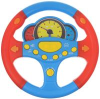 Купить ABtoys Игрушечный музыкальный руль цвет голубой красный