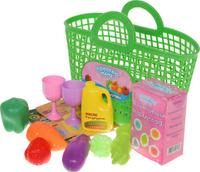 Купить ABtoys Набор продуктов в корзине 14 предметов цвет зеленый