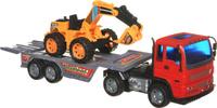 Купить Junfa Toys Автовоз инерционный с экскаватором Excellent Transport Car
