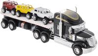 Купить Junfa Toys Автовоз инерционный с 3 машинками цвет черный, Junfa Toys Ltd, Машинки