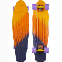 Купить Пенни борд Penny Nickel , цвет: оранжевый, фиолетовый, дека 69 х 19 см