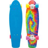 Купить Пенни борд Penny Nickel , цвет: голубой, желтый, оранжевый, дека 69 х 19 см