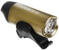 Купить Фонарь велосипедный D-Light CG-123P , передний, с зарядкой от USB, цвет: бронзовый, черный
