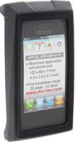 Купить Чехол для смартфона на руль BiKase Flash , водонепроницаемый, цвет: черный, серый, прозрачный, 13, 5 х 8 х 3 см