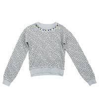 Купить Толстовка для девочки PlayToday, цвет: серый меланж, черный. 362160. Размер 116, Одежда для девочек