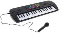 Купить ABtoys Синтезатор DoReMi 37 клавиш с микрофоном цвет черный D-00024, Rinzo, Музыкальные инструменты