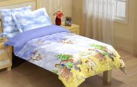 Купить Комплект белья Liya Home Collection Шрек , 1, 5-спальный, наволочки 70x70, цвет: голубой, желтый