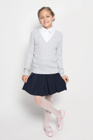 Купить Джемпер для девочки Sela, цвет: светло-серый меланж. JR-614/876-6311. Размер 116, 6 лет, Одежда для девочек