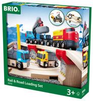 Купить Brio Железная дорога с автодорогой и переездом