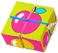 Купить Мякиши Кубики Собери картинку Ягоды фрукты овощи, Развивающие игрушки