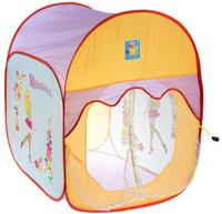 Купить 1TOY Детская игровая палатка Красотка цвет желтый голубой