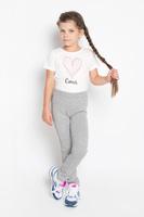 Купить Брюки для девочки PlayToday, цвет: серый меланж. 362022. Размер 104, 4 года, Одежда для девочек