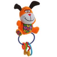 Купить Bondibon Мягкая игрушка-погремушка-пищалка Собака, Bondibon Creatures Co., LTD