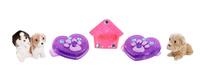 Купить Puppy In My Pocket Набор фигурок и украшений цвет розовый фиолетовый 6 шт, Just Play (HK) LTD