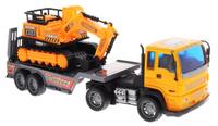 Купить Junfa Toys Автовоз инерционный с экскаватором цвет оранжевый, Машинки